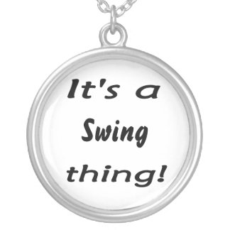 It's a swing thing! silver plated necklace
