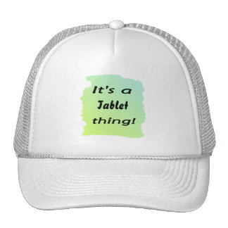 It's a Tablet thing! Mesh Hats