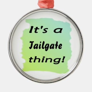 It's a tailgate thing! christmas tree ornaments