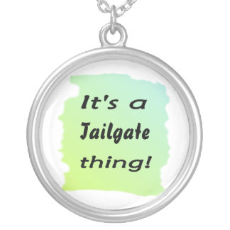 It's a tailgate thing! round pendant necklace
