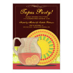"It's a Tapas Party! Happy Hour Invitation 5"" X 7"" Invitation Card"