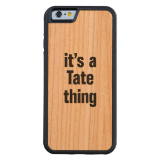 its a tate thing carved® cherry iPhone 6 bumper case