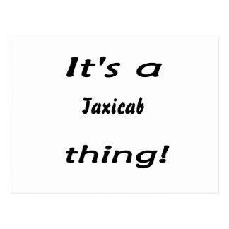 it's a taxicab thing! postcard