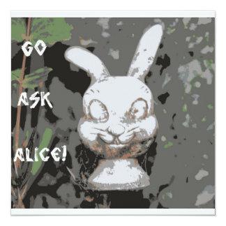 """It's a Tea Party Alice! 5.25"""" Square Invitation Card"""