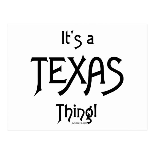 It's A Texas Thing! Postcard
