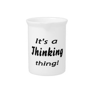 It's a thinking thing! pitcher