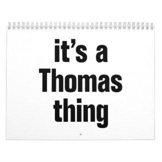 it's a thomas thing calendar