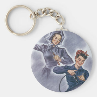 It's a Tradition with Us, Mister! Basic Round Button Keychain