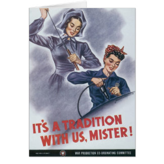 It's a Tradition with Us, Mister! Greeting Card