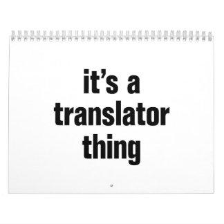 its a translator thing calendar