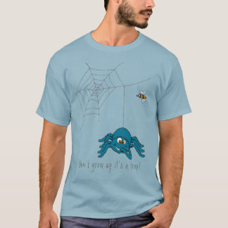 It's a trap blue spider and the fly t-shirt