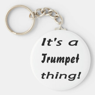 It's a trumpet thing! key chains
