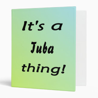 It's a tuba thing! 3 ring binder