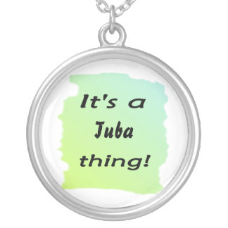 It's a tuba thing! round pendant necklace