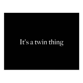 It's a twin thing postcard