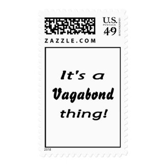 It's a vagabond thing! postage stamps