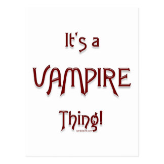 It's a Vampire Thing! Postcard