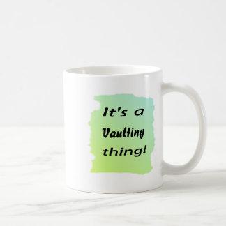 It's a vaulting thing! coffee mug