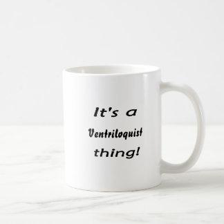 It's a ventriloquist thing! classic white coffee mug