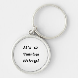 It's a ventriloqy thing! key chains