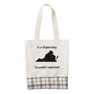 It's A Virginia Thing Zazzle HEART Tote Bag