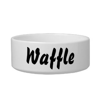 It's a waffle thing! bowl