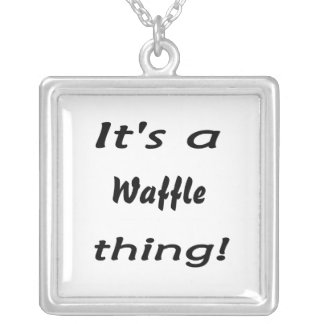 It's a waffle thing! silver plated necklace
