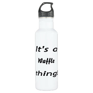 It's a waffle thing! water bottle