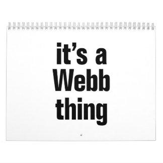 its a webb thing calendar