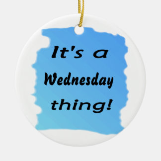 It's a Wednesday thing! Double-Sided Ceramic Round Christmas Ornament