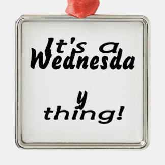 It's a Wednesday thing! Square Metal Christmas Ornament