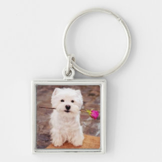 It's A Westie Thing! Silver-Colored Square Keychain