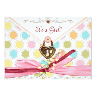It's A Whimsey Girl BABY SHOWER Card