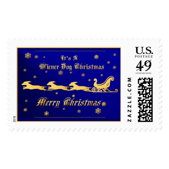It's A Wiener Dog Christmas Postage