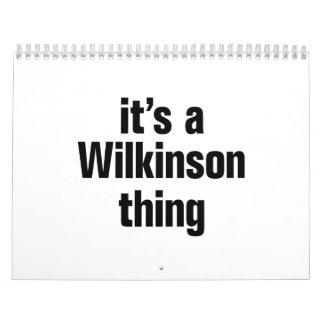 its a wilkinson thing calendar