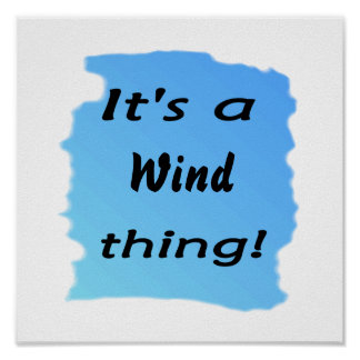 It's a wind thing! poster