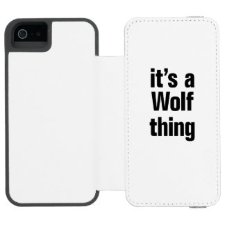 its a wolf thing incipio watson™ iPhone 5 wallet case