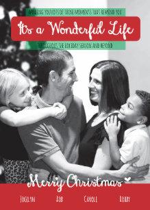 It S A Wonderful Life Christmas Holiday Photo Card