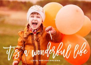 It S A Wonderful Life Christmas Photo Card