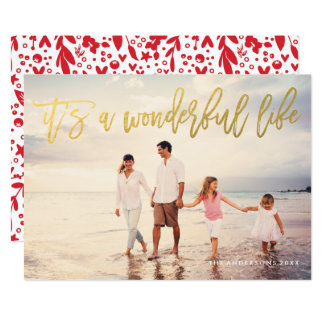 It's a Wonderful Life Faux Foil Holiday Photo Card