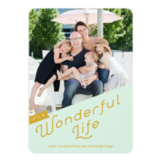 It's a Wonderful Life Holiday Greeting Card / Gold Personalized Announcement