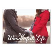"It's a Wonderful Life Holiday Photo Card 5"" X 7"" Invitation Card"