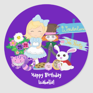 It's a Wonderland Birthday Tea Party Sticker