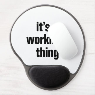 its a workman thing gel mouse pad
