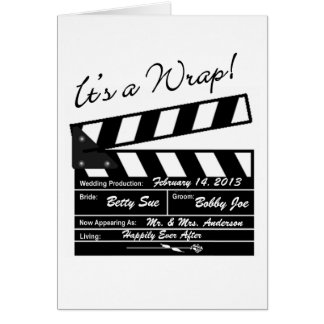 It's a Wrap - Movie Wedding Photo Thank You Stationery Note Card
