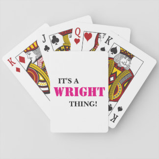 IT'S A WRIGHT THING! DECK OF CARDS
