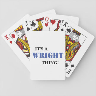IT'S A WRIGHT THING! POKER DECK
