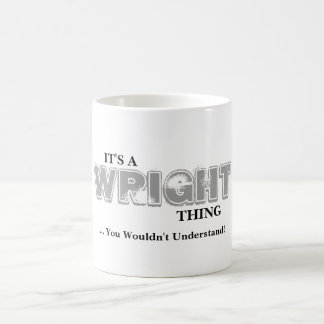 It's A WRIGHT Thing You Wouldn't Understand Coffee Mug