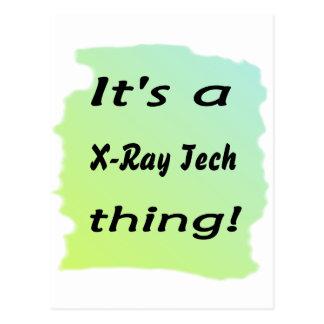 It's a x-ray tech thing postcard