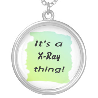 It's a X-Ray thing! Round Pendant Necklace